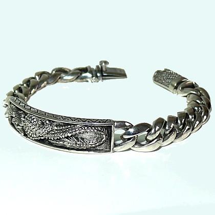 мужской серебряный браслет с Драконом. LoveLemon, интернет-магазин стильной мужской одежды и аксессуаров